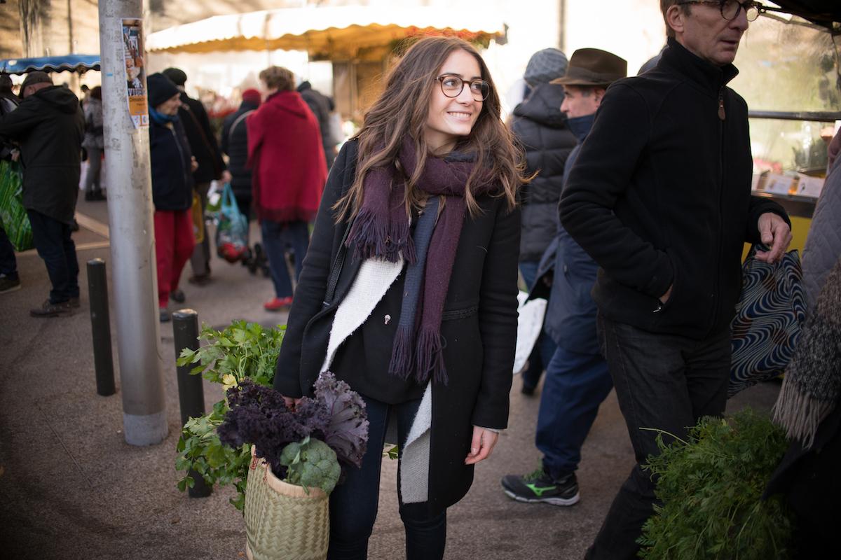 Claire au marché