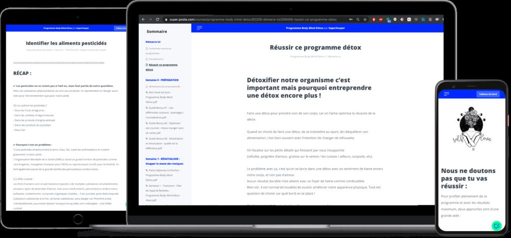 Aperçu programme BMD